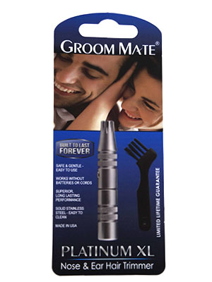 Groom Mate Platinum XL Manual Nose Hair Trimmer Packaging