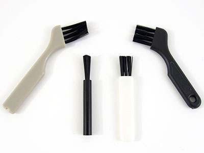 Different types of nose hair trimmer cleaning brushes