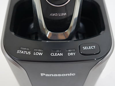 Panasonic Arc5 5-blade Electric Shaver controls and indicators