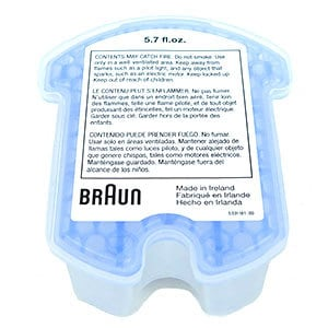 Braun Series 7 790cc-4 electric shaver disposable cartridge containing cleaning solution