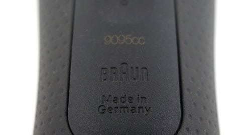 Braun series 9 electric shaver 9095cc made in germany