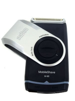 Braun M90 Mobile shaver with guard spinning anti-clockwise