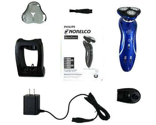 Philips Norelco 6100 Electric Shaver and accessories that come in box