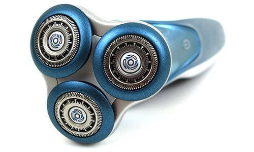 Philips Norelco 7300 electric shaver (7000 series) shaving head close up