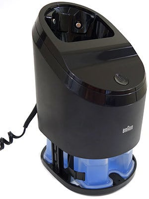 Braun Series 5 (5090cc) Electric Shaver cleaning station with cleaning cassette cartridge inside