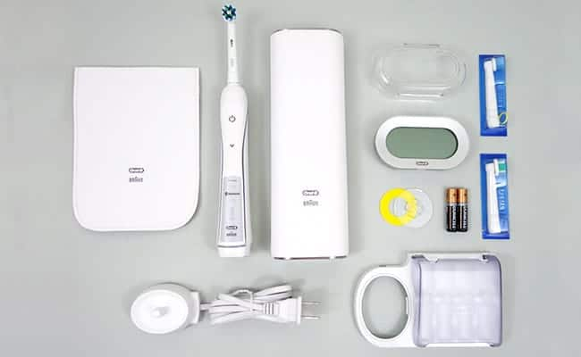 Oral-B White 7000 Electric Toothbrush and accessories included in box