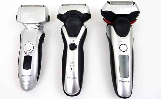 Panasonic Arc 3 electric shaver old and new models compared side by side