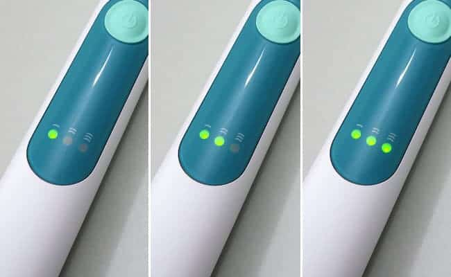 Philips Sonicare 3 Series Gum Health electric toothbrush brushing speed intensity indicator lights