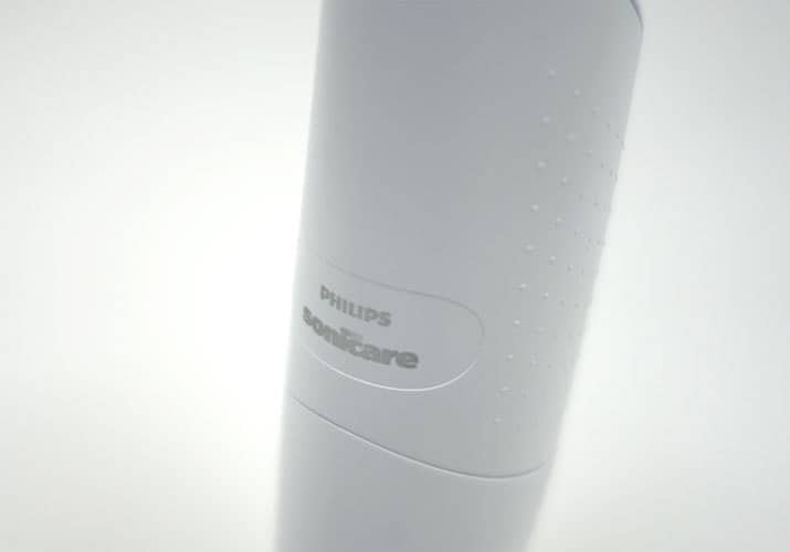Philips Sonicare AirFloss Pro front of handle branding
