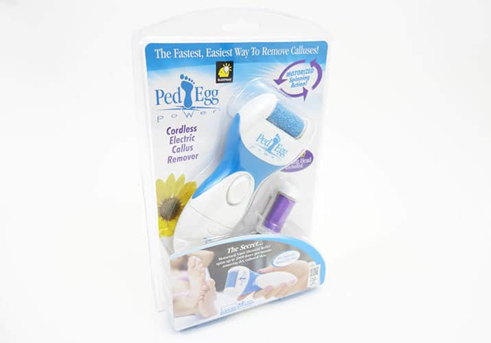 Ped Egg Power Electric Callus Remover in plastic clamshell packaging