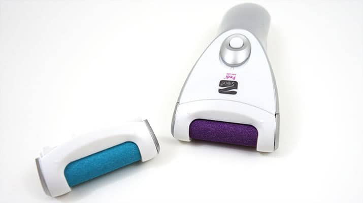 Silk'N Pedi Callus Care blue coarse roller and purple smooth roller heads