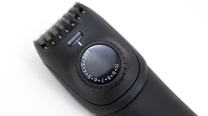 Braun BT5090 beard trimmer precision trimmer length selector dial