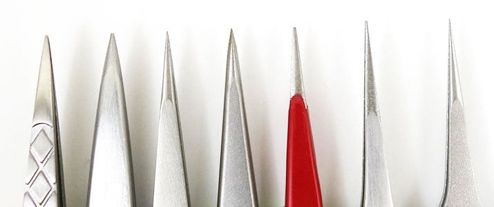 Pointed Tip Tweezer Comparison