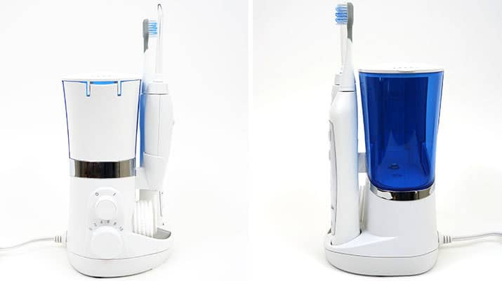Waterpik Complete Care 5.0 water flosser left and right side photo