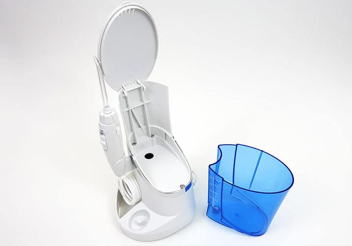 Waterpik Complete Care 5.0 with reservoir removed from base station