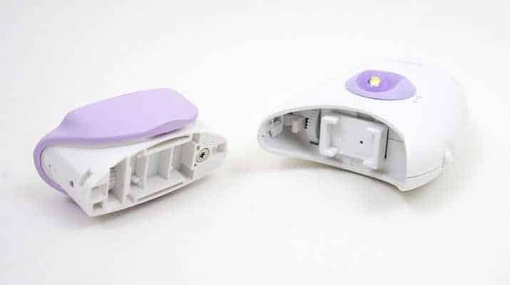 Braun Silk Epil 3 epilator head removed from handle