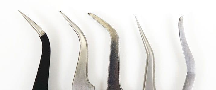 Curved Tweezers side by side comparison