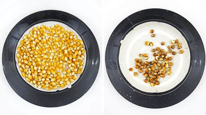 Presto Power Pop Microwave multi-popper unpopped kernels vs. popped kernels
