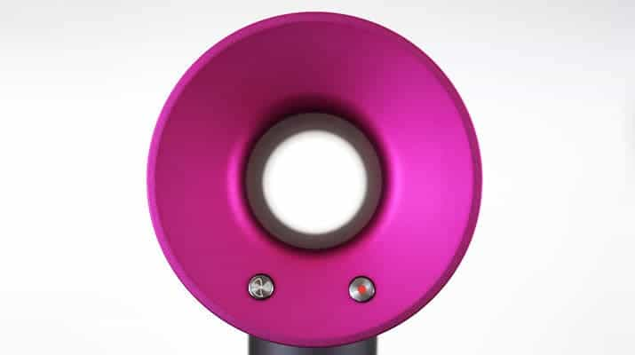 Dyson Supersonic Hair Dryer rear of head fuchsia
