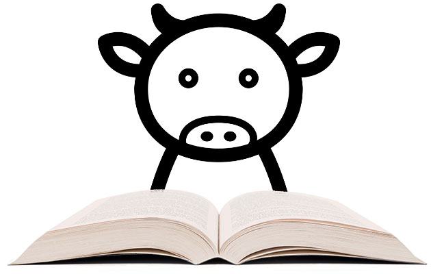 cow-reading-story-book