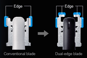 Nose hair trimmer blade vs dual edge blade comparison