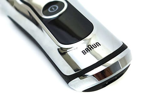 Braun series 9 electric shaver display screen and braun logo