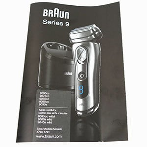 Braun Series 9 electric shaver instruction manual