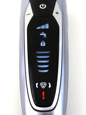 Philips Norelco S9311/84 9300 electric shaver (9000 series) indicator panel