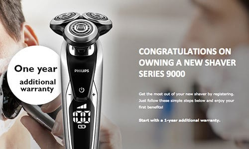 Philips Website Registering Series 9000 Electric Shaver