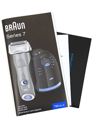 Braun Series 7 790cc-4 electric shaver instruction manual
