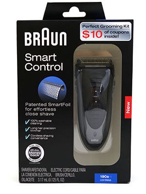 Braun Smart Control 190s-1 electric shaver box