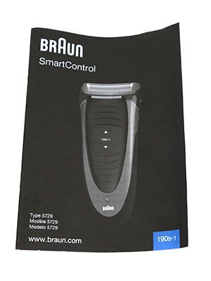 Braun Smart Control 190s-1 electric shaver instruction manual