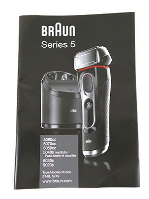 Braun Series 5 (5090cc) Electric Shaver Instruction Manual