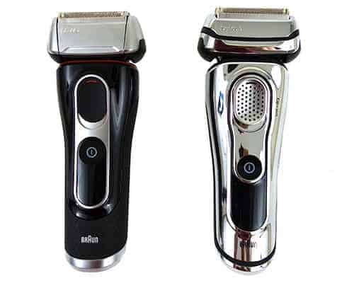 Braun series 5 vs Braun series 9 si9de by side comparison