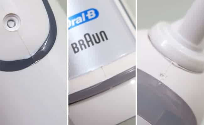 Oral-B Pro 5000 Electric toothbrush examples of poor workmanship