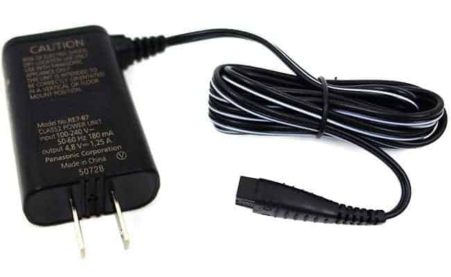 Panasonic Arc 3 electric shaver charging cable and plug