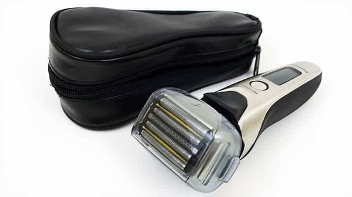 Panasonic Arc 5 ES-LV9N electric shaver with protective cover and soft travel case