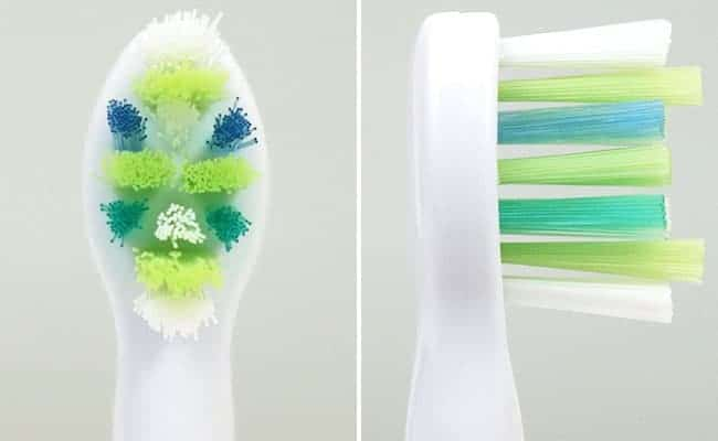 Philips Sonicare Intercare Compact replacement toothbrush head front and side photo of bristles