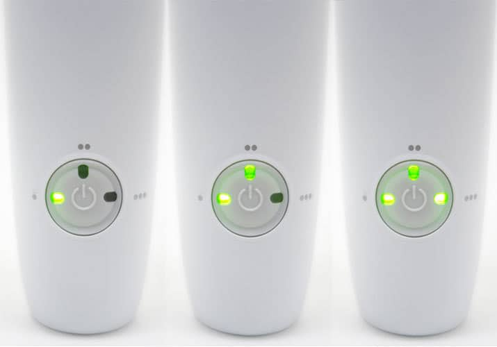 Philips Sonicare AirFloss Pro burst mode setting indicator lights