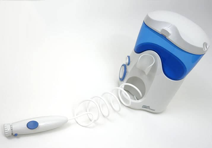 Waterpik Ultra Handle with Water hose pipe stretched out