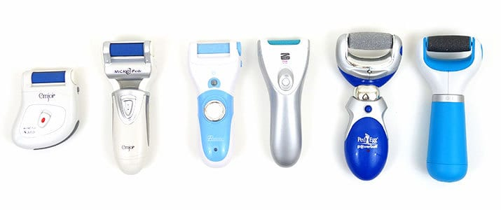 Electric callus remover side by side comparison