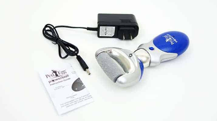 Ped Egg powerball rechargeable callus remover and accessories included in box