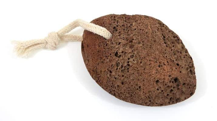 Pumice stone used for removing calluses from feet and hands