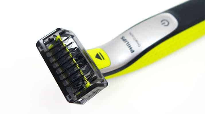Philips Norelco OneBlade with stubble comb attached