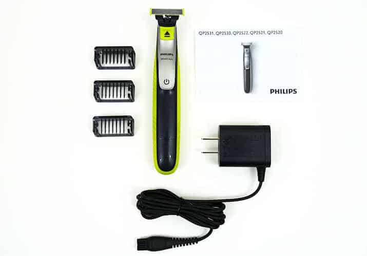 Philips Norelco OneBlade and Accessories that come in the box