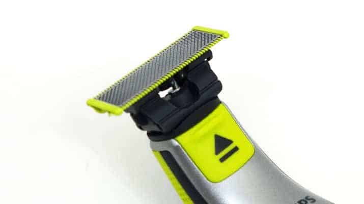 Philips Norelco OneBlade trimmer head release button