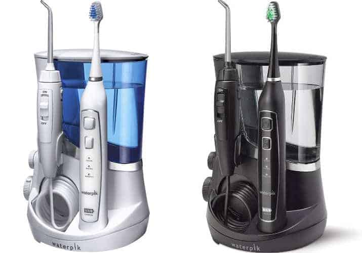 Waterpik Complete Care 5.0 white WP-861W vs WP-862W black side by side comparison