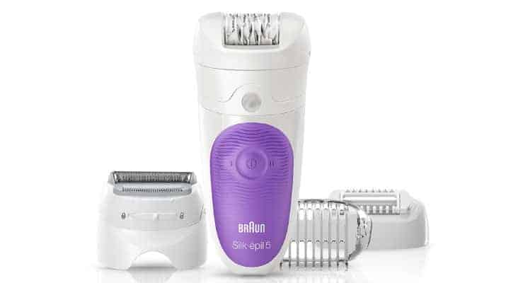 Braun Silk Epil 5 Epilator 5-541 Wet and Dry purple