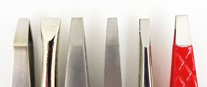 Flat Square Tip Tweezers side by side comparison