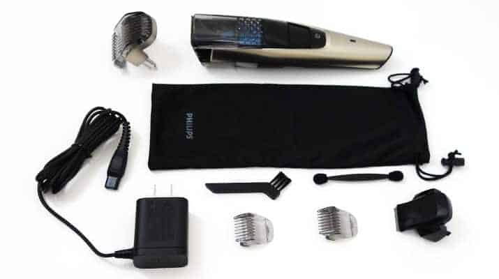 Philips Norelco Series 7000 7200 Vacuum Beard Trimmer and accessories that come in the box